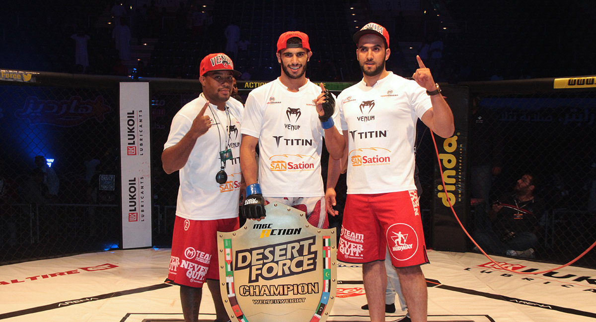 Desert Force Champion at Team Nogueira Dubai