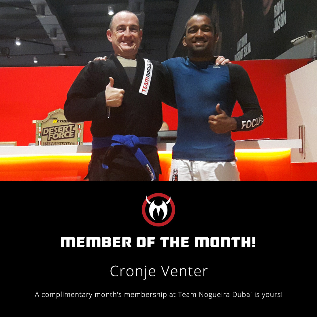 Cronje Venter October Member of the Month